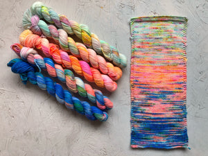Mini sock yarn 'Equinox' sock kits 4ply