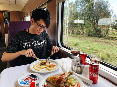 Eating-Shosholoza-Train