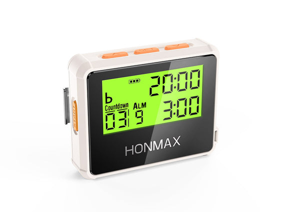 HONMAX 8200 IP66 Programmable Interval Timer Stopwatch-White