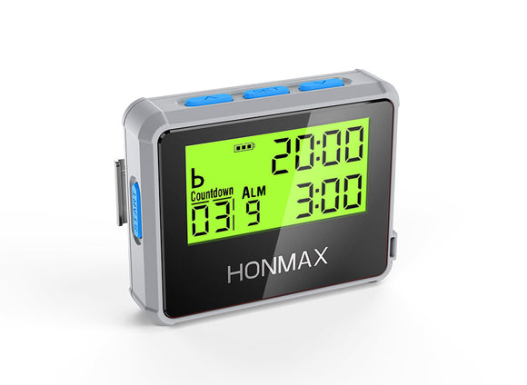 HONMAX 8200 IP66 Programmable Interval Timer Stopwatch-Gray