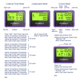 HONMAX 8200 IP66 Programmable Interval Timer Stopwatch-Violet