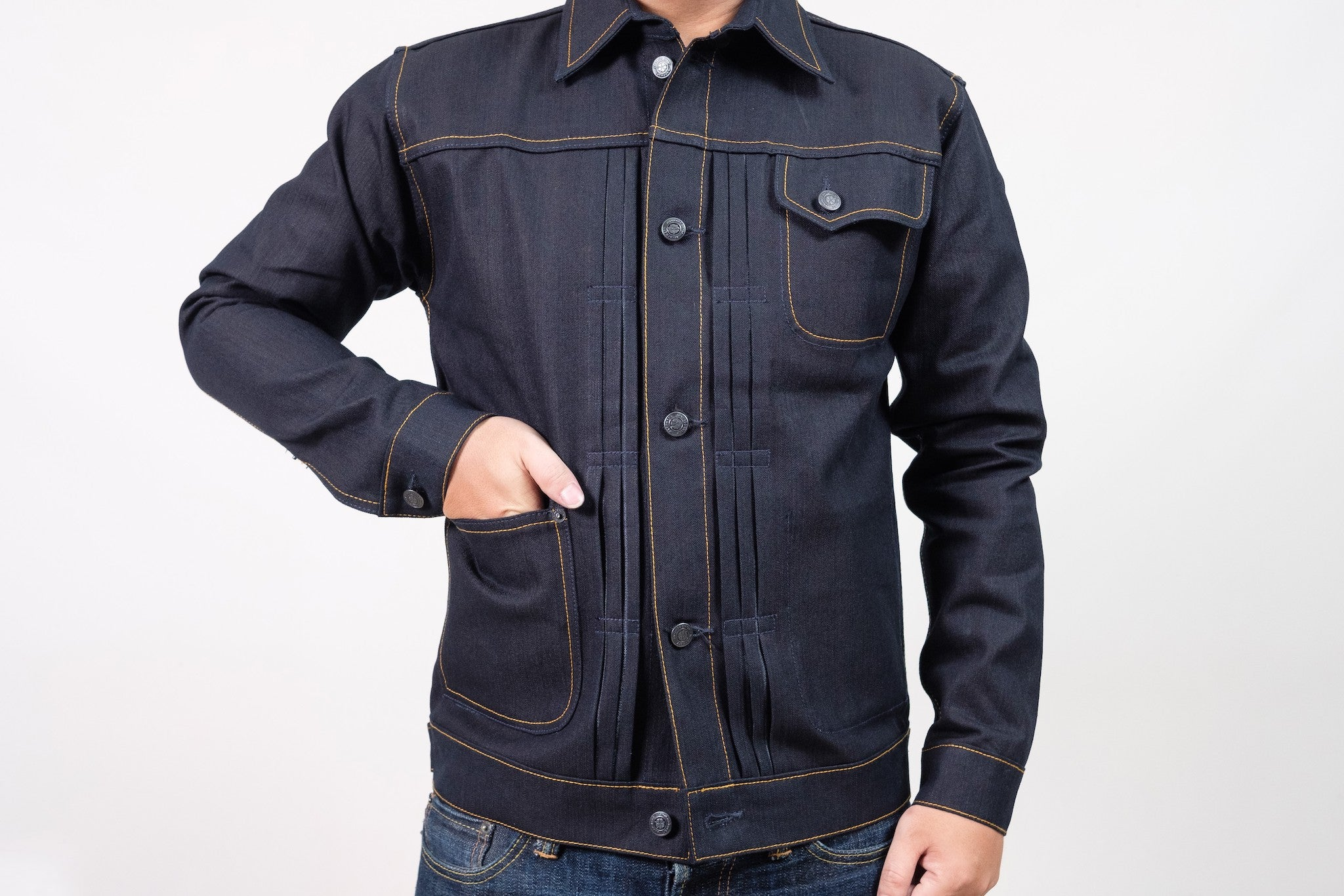 JACKET N°1 - INDIGO/BLACK