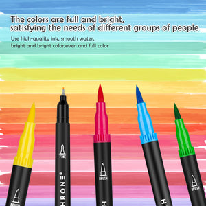 Dual Tip Brush Markers ( 72 Colors)