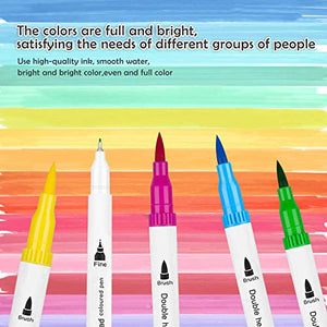 48 Colors Dual Tip Brush Markers
