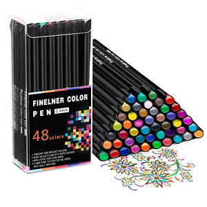 Hethrone 48 Color Fineliner Pens Fine Tip Pens