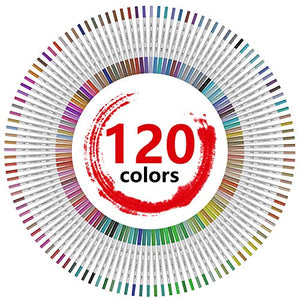 120 Colors Dual Tip Brush Pens