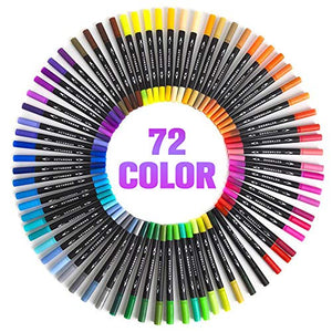 72 Colors Dual Tip Brush Pens