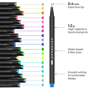 Fineliner Color Pens Set (100 Colors)