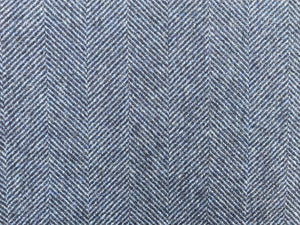 Wool Herringbone - Midnight Navy