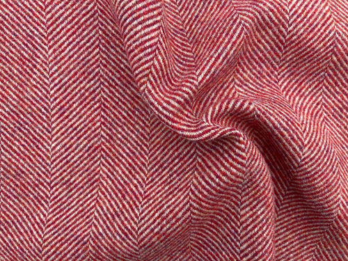 Wool Herringbone - Sweetness Strawberry