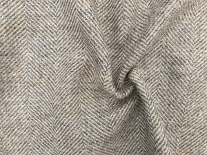 Wool Herringbone - Pebble Beach