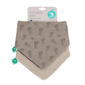 Bandana Bibs 2pk - Reversible - Clouds