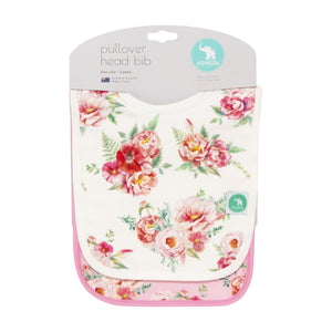 Pullover Head Bibs 2pk - Floral
