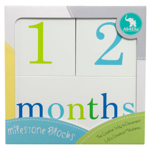 Milestone Blocks Boy (White)