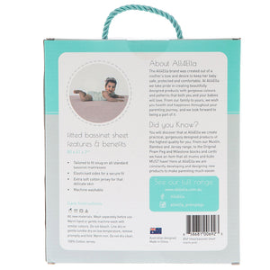 Fitted Bassinet Sheet - Marle Grey