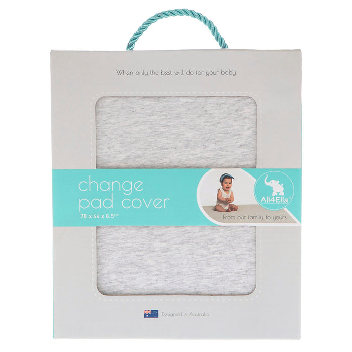Fitted Change Pad Cover - Marle Grey