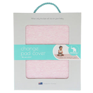 Fitted Change Pad Cover - Marle Pink