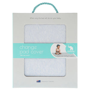 Fitted Change Pad Cover - Marle Blue