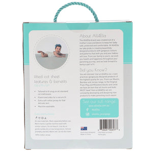 Fitted Cot Sheet - Marle Grey