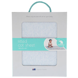 Fitted Cot Sheet - Marle Blue
