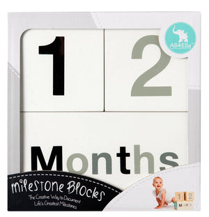 Milestone Blocks Black & Grey (White)