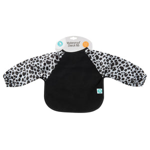 Long Sleeve Bib - Leopard Black