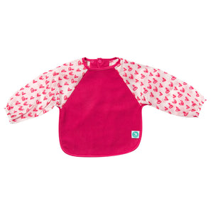 Long Sleeve Bib - Pink Hearts
