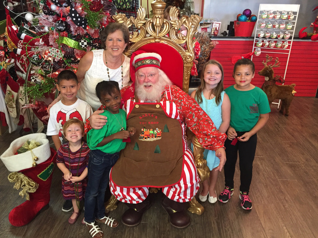 Santa makes a surprise visit at Occasions by the Christmas Store in Tyler, TX