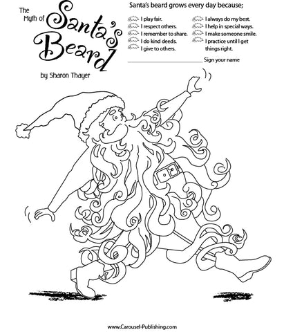 santa coloring pages 2