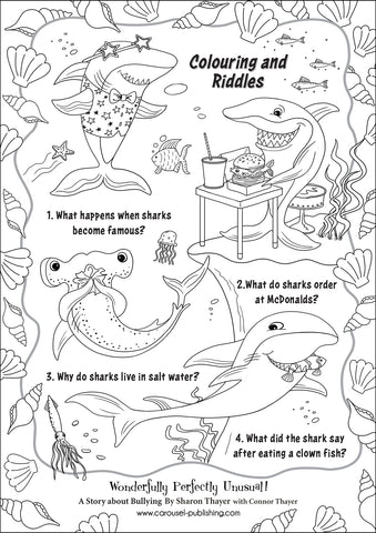 Shark Riddles page 1