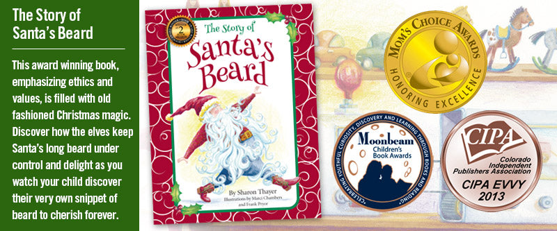 Set a new tradition this Christmas with this award-winning picture-book. Santa's beard grows every time kids are good and gets so long he can't make the toys. In the end the beard is cut and a snippet include in the book for the best kids on Santa's list.