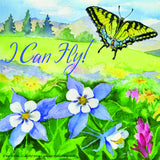 """If You Tell Me, I Can Fly!"" Butterfly Window Cling"