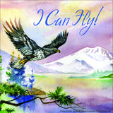 """If You Tell Me, I Can Fly!"" Eagle Window Cling"