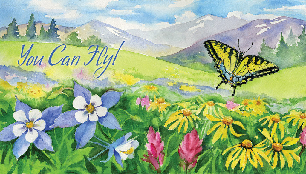 """If You Tell Me, I Can Fly!"" Butterfly Poster"