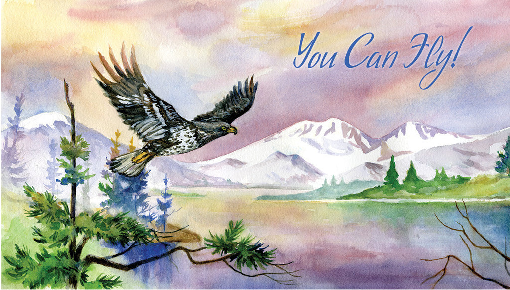 """If You Tell Me, I Can Fly!"" Eagle Poster"