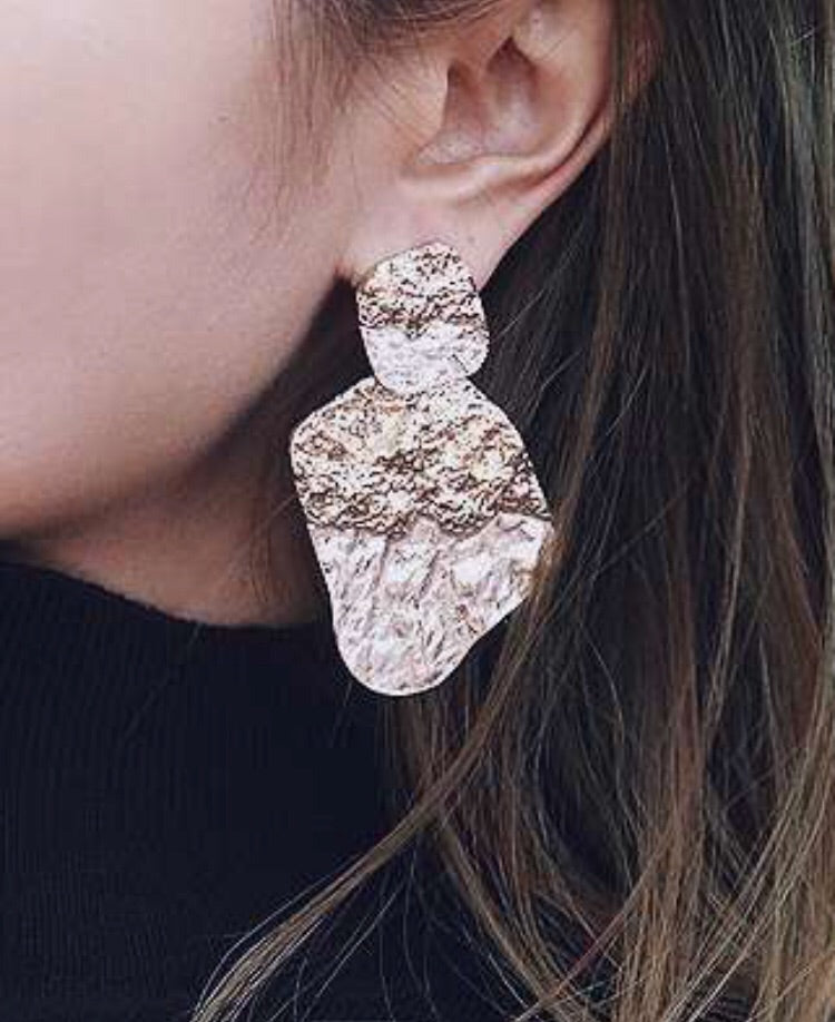 Alloy drop earrings