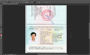 VN - Vietnam Passport PSD file ( Photoshop /Template) New High Quality 2019