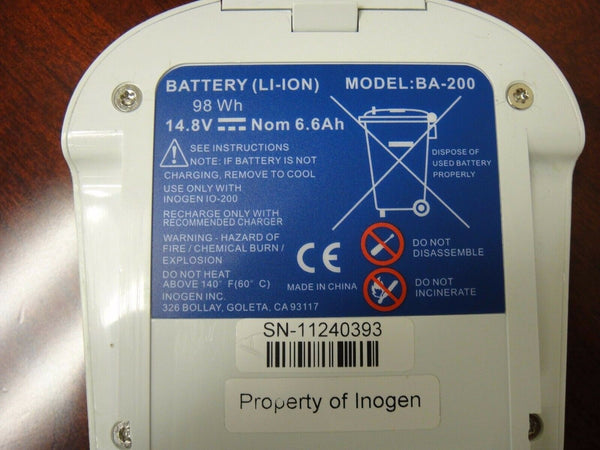 INOGEN ONE G2 Standard 12 CELL BATTERY BA-200 AS IS NOT WORKING