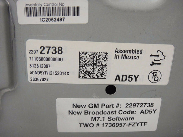 2013 CADILLAC XTS OR ATS Cluster OEM CLUSTER SPEEDOMETER