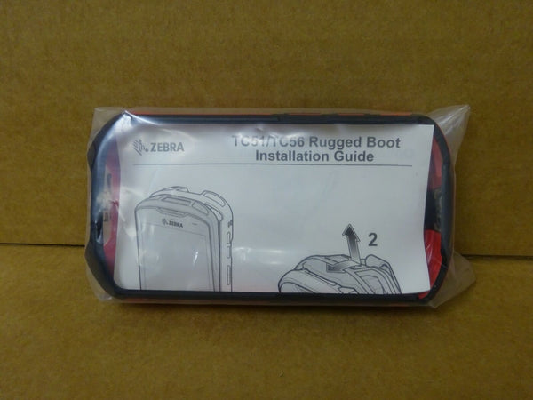 Zebra Rugged Boot with Handstrap for TC51/TC56 - Red & Black NEW SG-TC51-RRB1-01