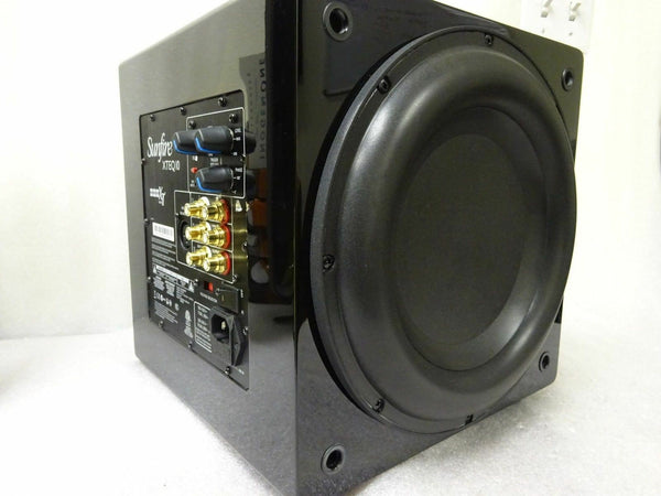 "Sunfire XTEQ 10"" Inch Powered 2700 Watt Subwoofer Box Gloss Black XTEQ10"