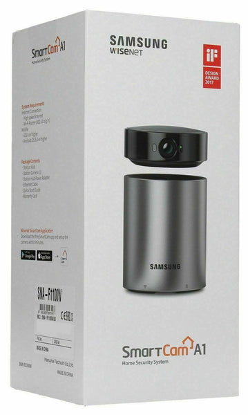 Samsung WiseNet SmartCam A1 Indoor Home Security Camera SNA-R1100W BRAND NEW