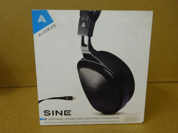 New AUDEZE SINE OnEar Headphones 3.5mm / Cipher 24Bit iPhone Lightning Cable