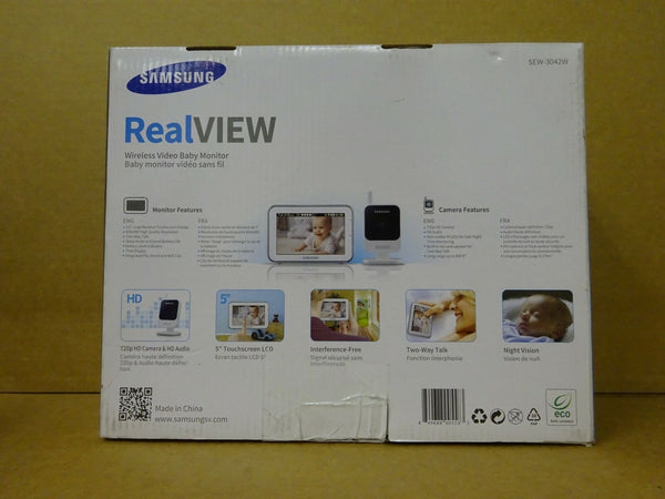 Samsung SEW-3042W RealVIEW Baby Monitoring System Monitor and Camera