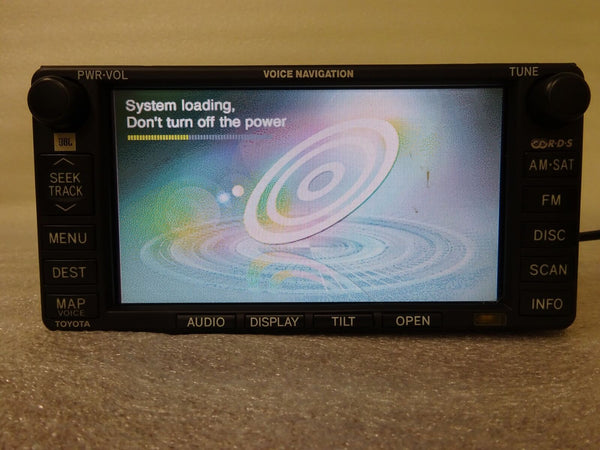 04-07 TOYOTA SOLARA OEM GPS NAVIGATION CD DVD PLAYER 86120-33590 RADIO E7001