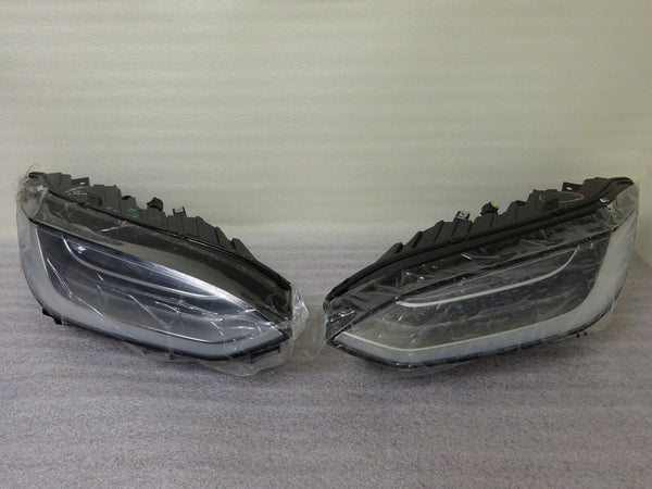 16 17 Tesla Model X Left Driver Right Passenger LED Headlight Set Pair OEM