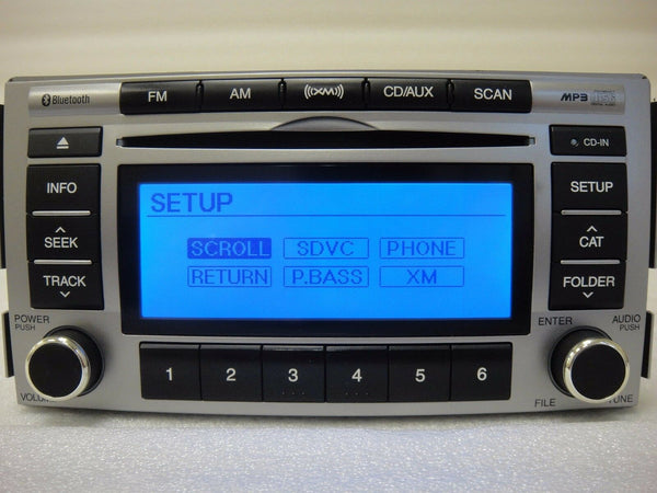 10 11 12 Hyundai Santa Fe Radio OEM Cd Player Bluetooth Mp3 XM Aux 96180-0W500