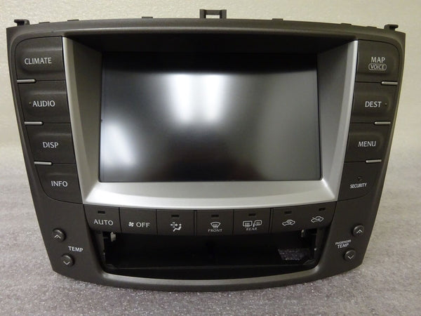 06-09 Lexus IS250 IS350 Navigation OEM GPS Nav Monitor Screen Climate Control