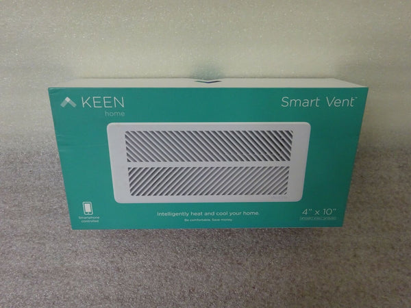 "Keen Home Smart Vent 4"" X 10"" Open Box item KT01-410-001"