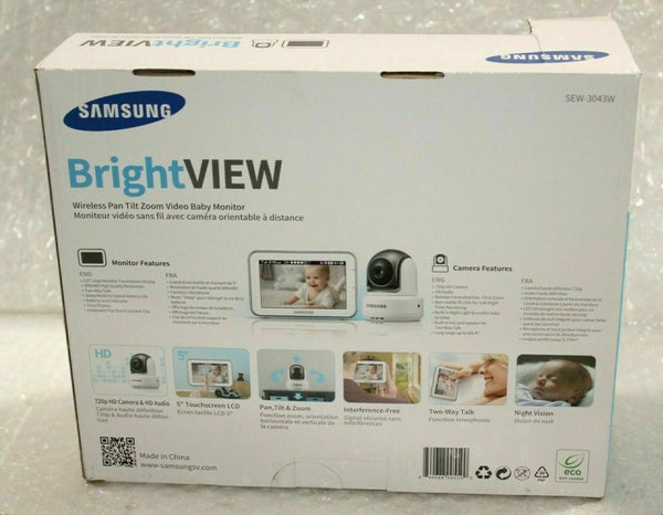 Samsung SEW-3043W Bright VIEW Baby Monitoring System And Night Vision PTZ Camera